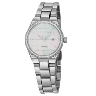 Concord Women's 'Mariner' Mother of Pearl Diamond Dial Stainless Steel Diamond Swiss Quartz Watch