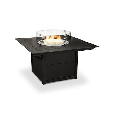"POLYWOOD® Square 42"" Fire Pit Table"