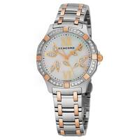Concord Women's 0320307 'Saratoga SL' Mother of Pearl Diamond Dial Stainless Steel/18K Rose Gold Lady Petal Swiss Quartz Watch