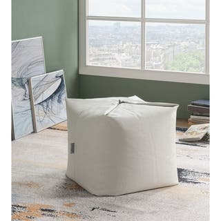 Buy Cream Bean Bag Chairs Online at Overstock  ef91b057bca4f