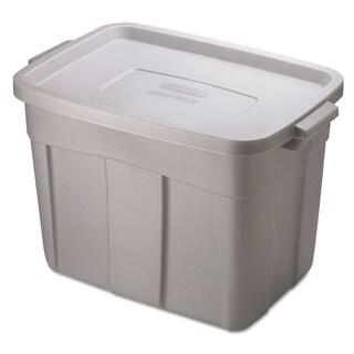 Rubbermaid Roughneck Storage Box, 18 gal, Steel Gray