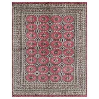 Handmade One-of-a-Kind Bokhara Wool Rug (Pakistan) - 6'6 x 8'3