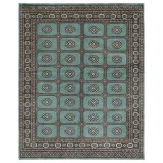 Handmade Herat Oriental Pakistani Hand-knotted Bokhara Wool Rug (6'8 x 8'3)