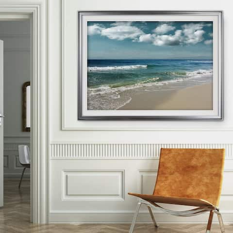 Majestic Waves-Premium Framed Print - blue, green, white, black, red, grey, yellow,