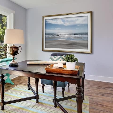 Beach Bliss-Premium Framed Print - blue, green, white, black, red, grey, yellow,