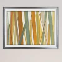 Summer Hayfield-Premium Framed Print