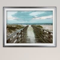 Happy Place-Premium Framed Print - blue, green, white, black, red, grey, yellow,