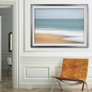 Santa Cruz-Premium Framed Print - grey, yellow, blue, green, white, black, red