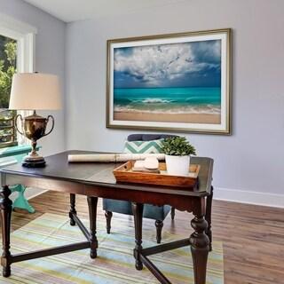 Leeward Island-Premium Framed Print - grey, yellow, blue, green, white, black, red