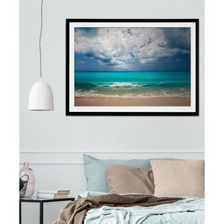 Leeward Island-Premium Framed Print - grey, yellow, blue, green, white, black, red