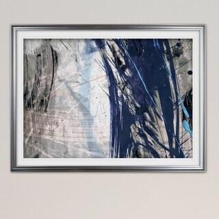 Blue Noise II-Premium Framed Print - blue, green, white, black, red, grey, yellow,