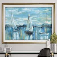 Evening on the Bay-Premium Framed Print