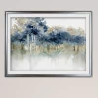 Waters Edge I-Premium Framed Print - grey, yellow, blue, green, white, black, red