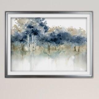 Waters Edge I-Premium Framed Print - grey, yellow, blue, green, white, black, red