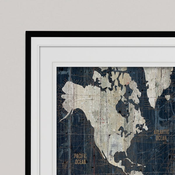 Shop Old World Map Premium Framed Print On Sale Free Shipping
