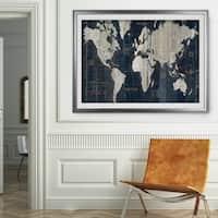 OLD WORLD MAP-Premium Framed Print