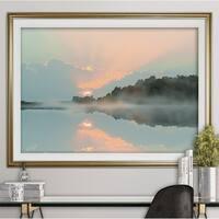 Sunset Cove-Premium Framed Print - grey, yellow, blue, green, white, black, red