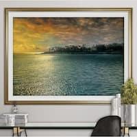 Mystic Island-Premium Framed Print - grey, yellow, blue, green, white, black, red