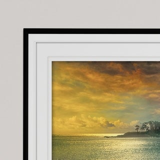 Mystic Island-Premium Framed Print - grey, yellow, blue, green, white, black, red
