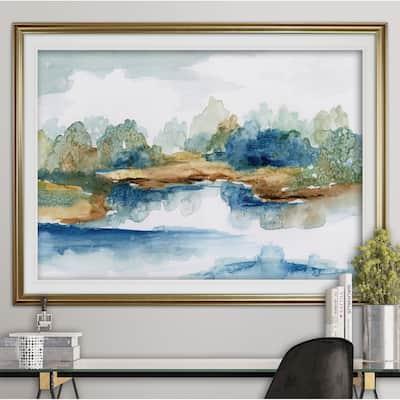 Blue Serenity-Premium Framed Print - grey, yellow, blue, green, white, black, red