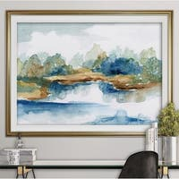 Blue Serenity-Premium Framed Print - grey, yellow, blue, green, white, black, red