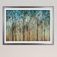 Sunlit Birch Grove-Premium Framed Print