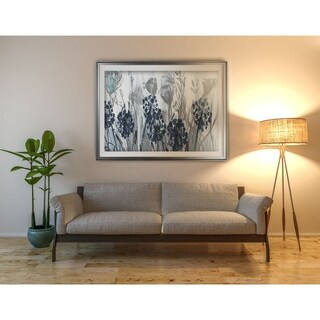 Indigo Field-Premium Framed Print - grey, yellow, blue, green, white, black, red