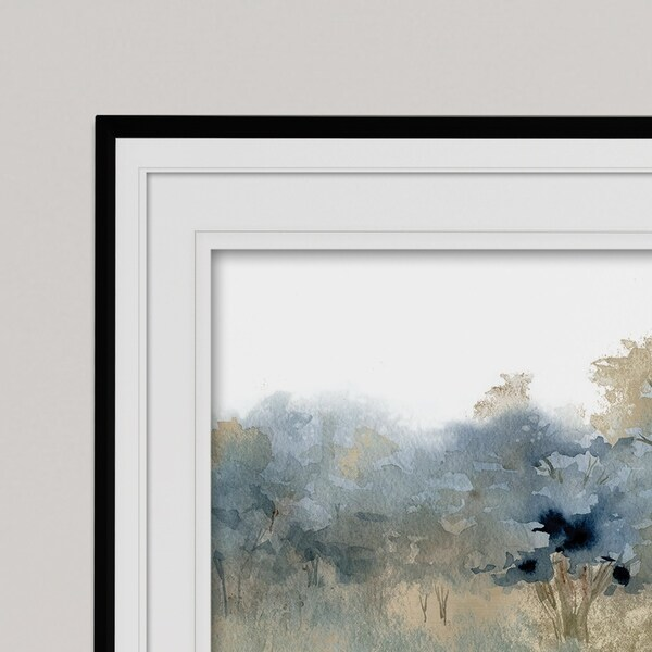 Waters Edge II-Premium Framed Print - grey, yellow, blue, green, white, black, red. Opens flyout.