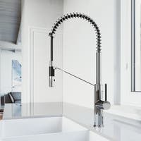 VIGO Livingston Chrome Magnetic Kitchen Faucet