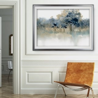 Waters Edge II-Premium Framed Print - grey, yellow, blue, green, white, black, red