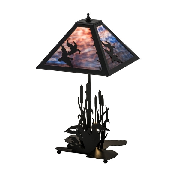 Shop 21 Inch Wide Ducks In Flight W Lighted Base Table Lamp Free