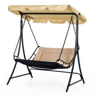 Outsunny Covered Outdoor Patio Swing Bed Lounger