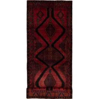 eCarpetGallery  Hand-knotted Zanjan Black, Red Wool Rug - 4'2 x 11'5