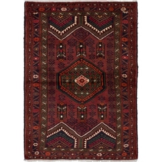 eCarpetGallery  Hand-knotted Hamadan Red Wool Rug - 3'4 x 4'8