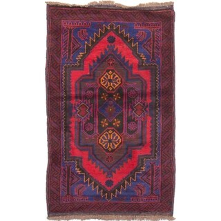 eCarpetGallery Hand-knotted Finest Rizbaft Red Wool Rug - 2'9 x 4'6