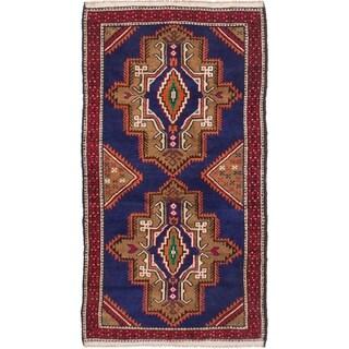 eCarpetGallery Hand-knotted Royal Baluch Dark Blue Wool Rug - 2'11 x 5'5