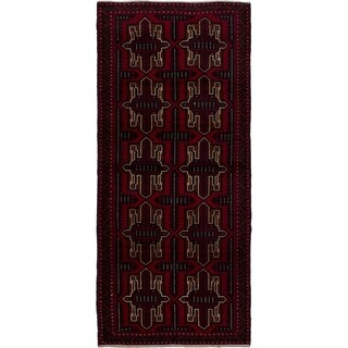 eCarpetGallery Hand-knotted Teimani Red Wool Rug - 2'10 x 6'4