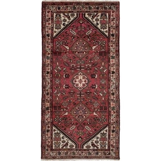 eCarpetGallery  Hand-knotted Hamadan Red Wool Rug - 3'3 x 6'8