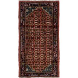 eCarpetGallery  Hand-knotted Lilihan Dark Copper Wool Rug - 3'0 x 5'8