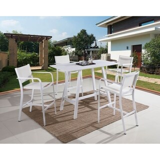 Somette Melli 5-Piece Outdoor Aluminum Pub Set
