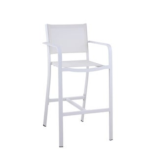 Somette Melli Outdoor Barstool with Aluminum Frame, Set of 4