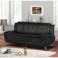 Arul Tufted Modern Club Sofa