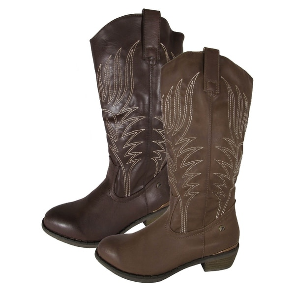 MTNG Mustang Womens 56143 Mid Calf Cowgirl Boots. Opens flyout.