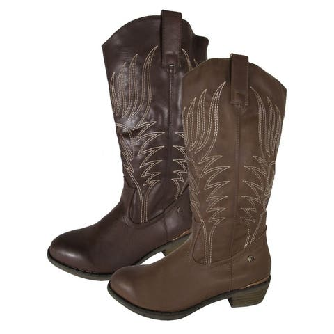 MTNG Mustang Womens 56143 Mid Calf Cowgirl Boots by  Cheap