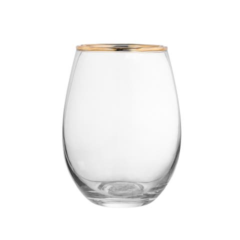 louis gold set/4 stemless goblets
