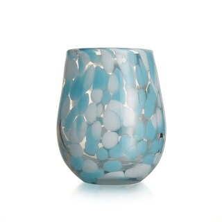 splash aqua s/4 stemless glass 15.89oz