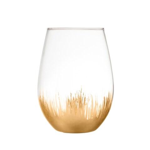 sedona gold set/4 stemless glasses