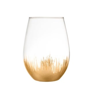 sedona gold set/4 stemless glasses