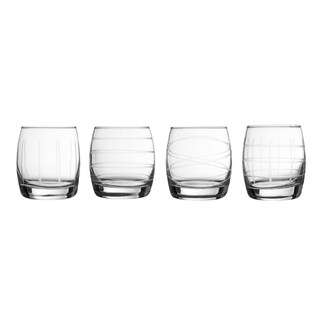 medallion set/4 stemless goblets