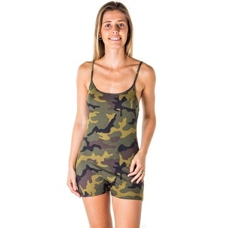 Ladies Camo Print Knit Romper Shorts By Special One